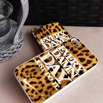 Every Damn Day Leopard Nike - Design Print - iPhone (4/4s and 5) - Samsung (S3 i9300 and S4 i9500) - iPod (4 and 5) - Plastic, Rubber