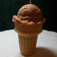 Scented Chocolate Ice Cream Cone Faux Food Candle