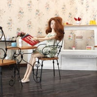 1/6 scale Table and Chairs French bistro set for dolls (Blythe, Barbie, Bratz, Momoko).