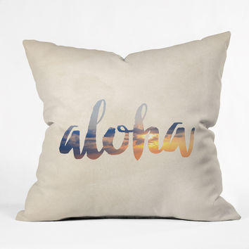 Chelsea Victoria Aloha Hawaii Outdoor Throw Pillow