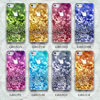 Colorful Glitter iPhone 5 Case, Personalized Glittery iPhone 5/5s/5c Hard Case Rubber Case,cover skin case for iphone 5 5s 5c case
