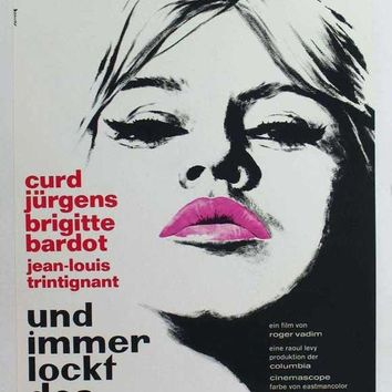 And God Created Woman (German) 11x17 Movie Poster (1957)
