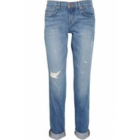 Rihanna J Brand Denim Aiden distressed boyfriend-fit jeans