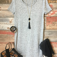 Make You Remember Tunic Dress: Heather Grey