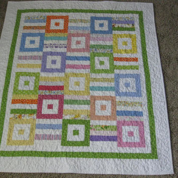 Strips and Blocks Baby Quilt