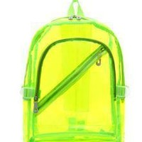 Clear Backpacks popular 2017 NEW Waterproof Backpack Transparent Clear Plastic for Teenage Girls PVC School Bags Shoulders Bag space backpack notebook AT_62_4