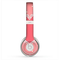 The Bright Pink Heart Lace V3 Skin for the Beats by Dre Solo 2 Headphones
