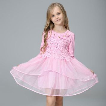 2016 flower girl princess tutu wedding party gifts and children's pink flower girl dresses