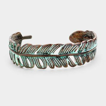 Feather Open Ended Cuff - Click for 3 Colors