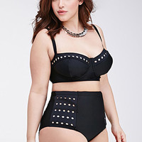 Perforated Corset Bikini Top