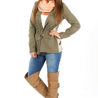 Show Me Your Sweet Side Jacket: Olive Green