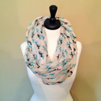 Horse Infinity Scarf Cute gift by KnitPopShop
