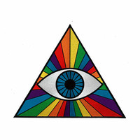 "THIRD EYE  PRISM Giant 11"" Back Patch - Spectrum Rainbow Hipster Pastel Goth Rainbow Rock Raver Rave Bohemian Denim Jacket Jean Hipsters Emo"