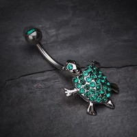 Adorable Turtle Dance Belly Ring
