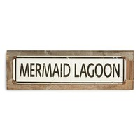 Poncho & Goldstein 'Mermaid Lagoon' Sign - Brown
