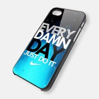 Every Damn Day Nike New Design iPhone 5 case Black / White Case
