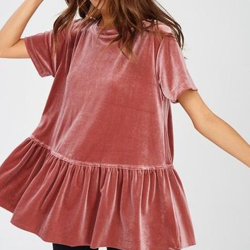 'Touch of Velvet' Peplum Top