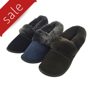 Men's Sheepskin Slippers - 550-M