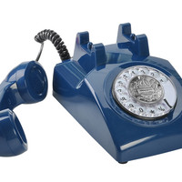 Classic Rotary Telephone - Traditional Rotary Dial, Bell Ringger, High / Low Volume, Tone Dialing