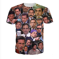 New Women/Men The Many Faces of Michael Scott 3D Print Casual T-Shirt YT284