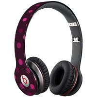 Black Raspberry Polka Dots Skin  for the Beats Solo HD by skinzy.com