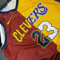 Men's Cleveland Cavaliers x Los Angeles Lakers LeBron James CLEVERS Jerseys - Best Deal Online