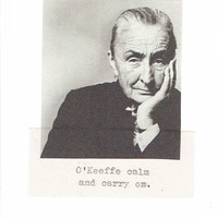 O'Keeffe Calm And Carry On Georgia O'Keeffe Birthday Card | Funny Feminist Artist Modern Art Abstract Art Inspirational Humor Women For Her