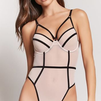 Sheer Mesh Caged Bodysuit