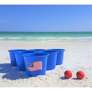 Patriot Pong - 100% Made In USA! - Highest Quality Giant Yard Pong Game! - Great For The Beach, Camping, Tailgating, Backyard Cookouts, And More!