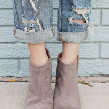 Inferno Booties - Taupe