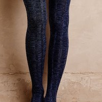 Ruffled Cable Over-The-Knee Socks by Far Away From Close