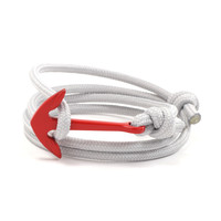 Red Anchor on Silver Rope