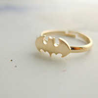 Batman ring CHOOSE ONE gold / silver / rose gold