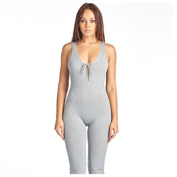 Ribbed Jumpsuit Heather Grey