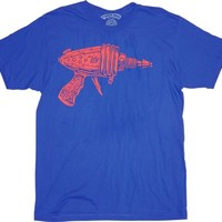 Ames Bros Flash Ray Gun Vintage Blue Adult T-shirt  - Shirts Sheldon Has Worn - | TV Store Online