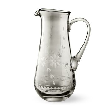 Vintage Etched Grey Pitcher