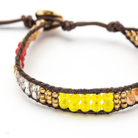 Crystal Bracelet - Red  & Yellow