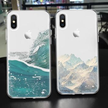 Snow Mountains Phone Case - TPU Clear Case