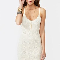 Aurora Lace Dress - Ivory in  Clothes at Nasty Gal