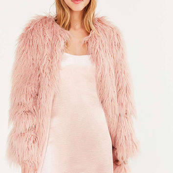Kimchi Blue Stella Shaggy Faux Fur Coat - Urban Outfitters