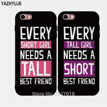 YAZHYUJE New soft tpu Couple BFF Gift BFF best friend Phone Case for Iphone 7 8 6 6S Plus X XS MAX XR 5S SE Silicone Back Cover