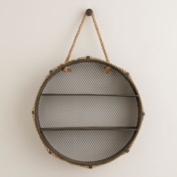 Round Metal Colton Cubby Wall Storage - World Market