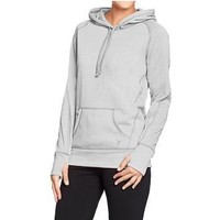 Grey hoodie pullover sweatshirt with thumb holes