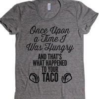Once Upon A Taco-Female Athletic Grey T-Shirt L |
