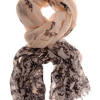 Cream bow print scarf - Scarves & Snoods - Accessories - Dorothy Perkins