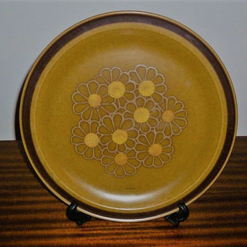 Vintage 1970s Crest-Stone Progreso Stoneware Plate  / Retro Japanese Plate / Oven and Detergent Proof / Platter