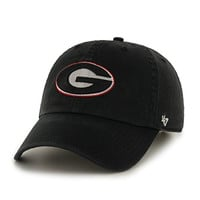 NCAA Georgia Bulldogs '47 Clean Up Adjustable Hat, Black, One Size
