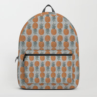 Pineapple Pattern Backpacks by Paula Oliveira