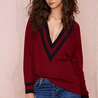 Boys Club Sweater - Burgundy