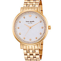 Kate Spade New York - Monterey Pavé Mother-Of-Pearl & Rose Goldtone Stainless Steel Bracelet Watch - Saks Fifth Avenue Mobile